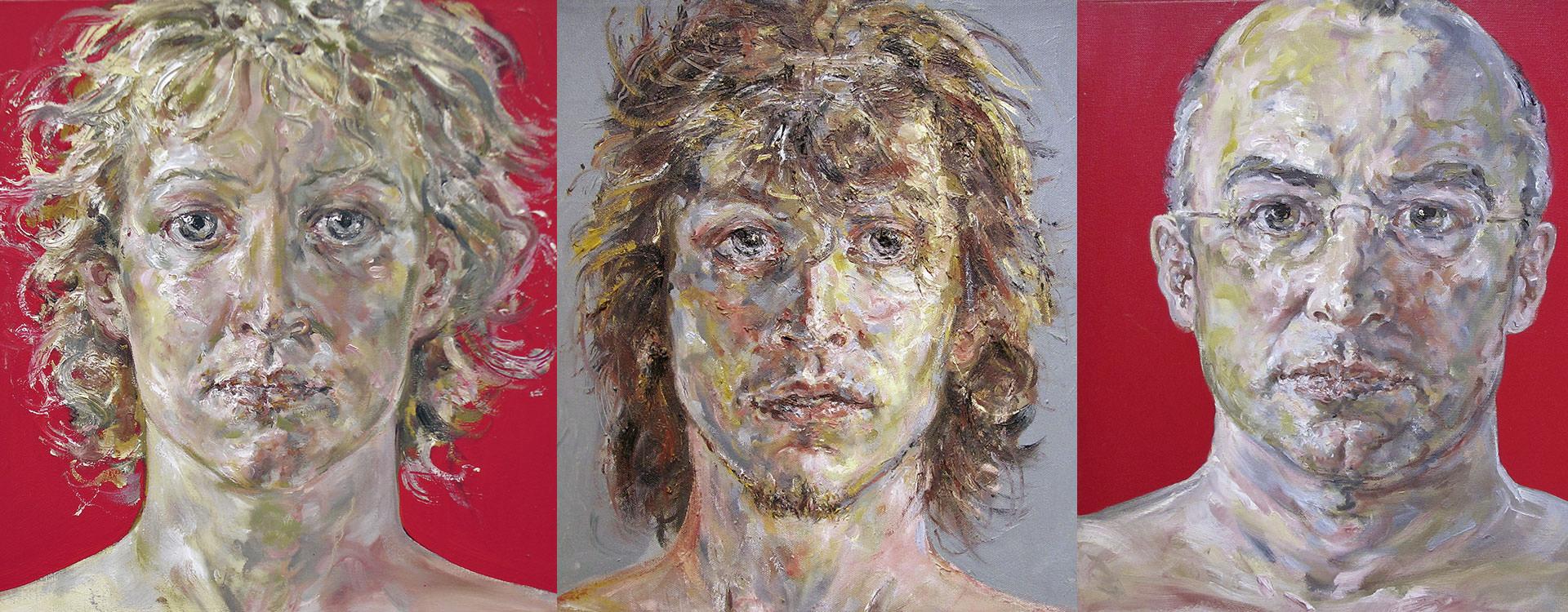 Portraits Peintures Gunther Roeder